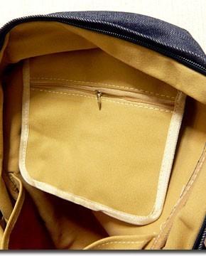 カラフルなネオンカラーで今季注目度大 非常に大きなメガジップファスナー付き切替えデイバッグ