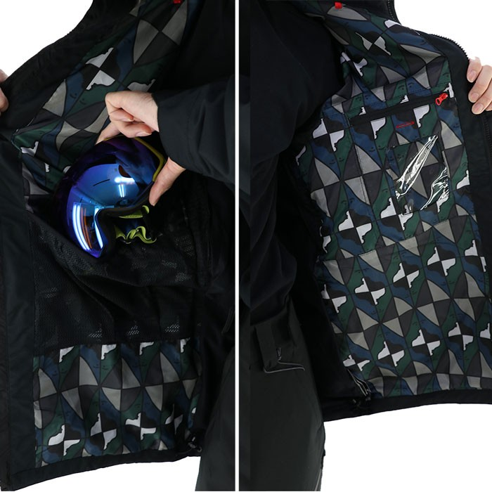 ロクハチロク メンズ スノージャケット [ジャケット単品] 686 スノボウェア ブラック スノボージャケット