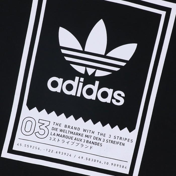 アディダス スケートボーディング 三つ葉 ロゴプリント Tシャツ DU8342 ブラック オリジナルス おすすめ 贈り物 ギフト プレゼント