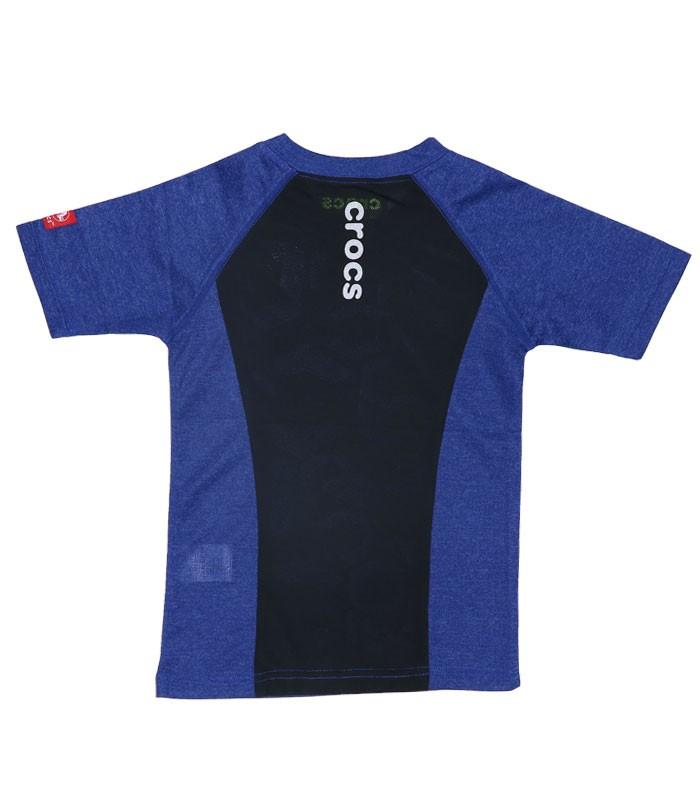CROCS クロックス キッズ ジュニア 男の子 女の子 Tシャツ 半袖 119167 ネイビー
