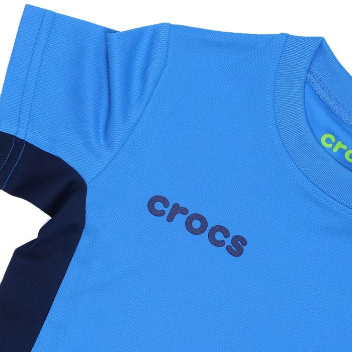 クロックス CROCS Tシャツ キッズ メッシュ ジュニア 半袖 119173 ブルー 男の子 女の子