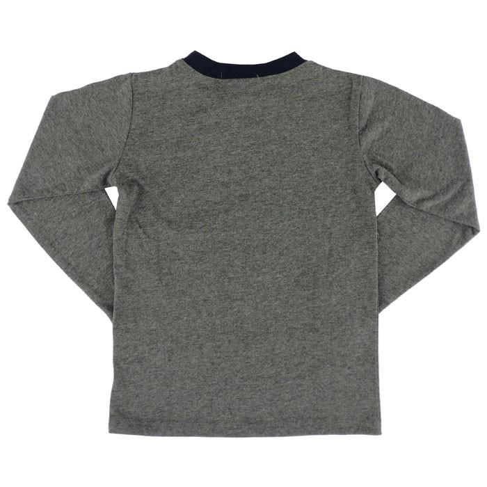 クロックス キッズ 長袖Tシャツ 110-160cm 長袖 ロンT ガールズ ボーイズ 147-107 グレー カットソー