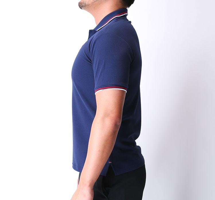 c2778d1e65d4ae フィラ ポロシャツ 半そで ドライ ネイビー ワンポイント メッシュ 紺色 FILA 418305
