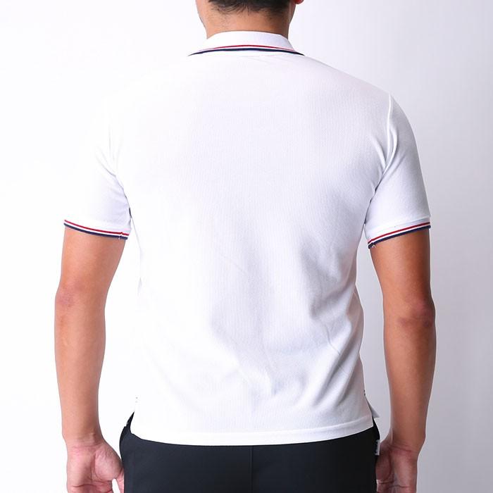 b972b55739421f フィラ 半袖ポロシャツ ドライ 白色 メッシュ FILA ワンポイント 刺繍 ホワイト 418305 カジュアル