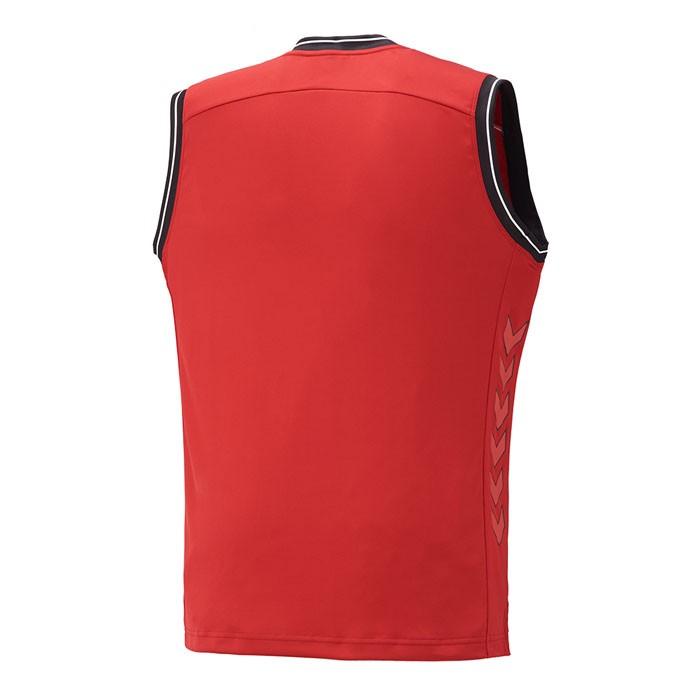 ヒュンメル 袖なし バスケットボールシャツ タンクトップ チリペッパー トレーニング