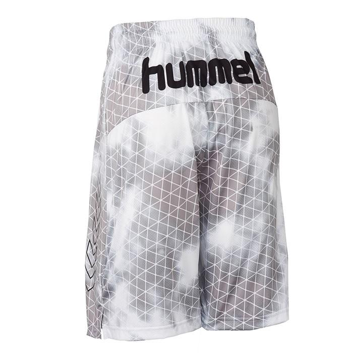 ヒュンメル バスパン 昇華プリント ハーフパンツ hummel バスケ パンツ ホワイト HAPB6012