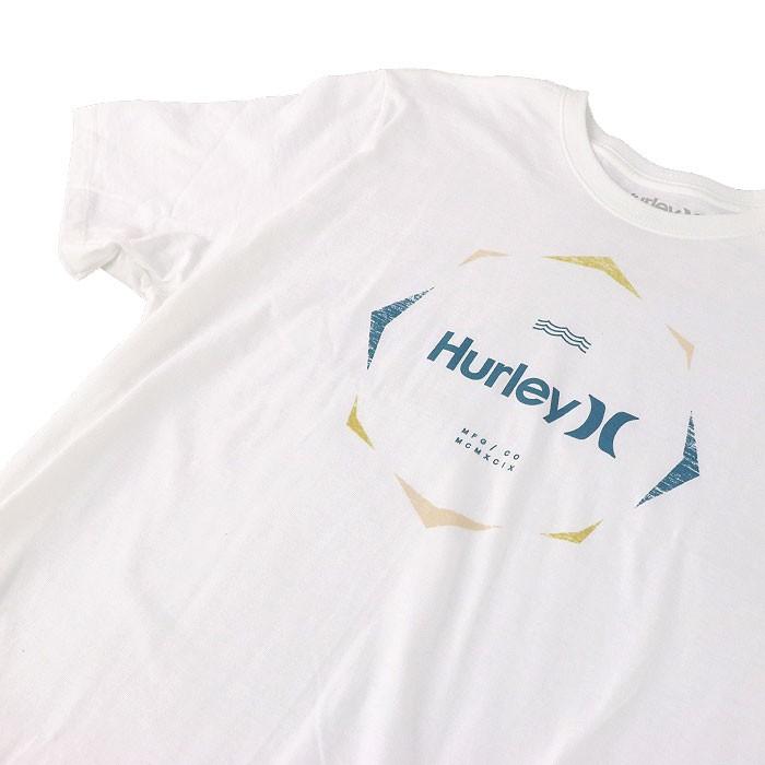 【メール便OK】ハーレー 半袖Tシャツ ホワイト プリントTシャツ 半そで ティーシャツ HURLEY 白色