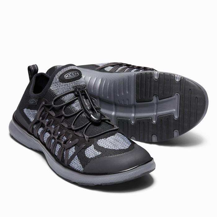 キーン ユニーク エクソ EXMO 軽量 メンズ スニーカー シューズ 1018766 ブラック グレー 黒色