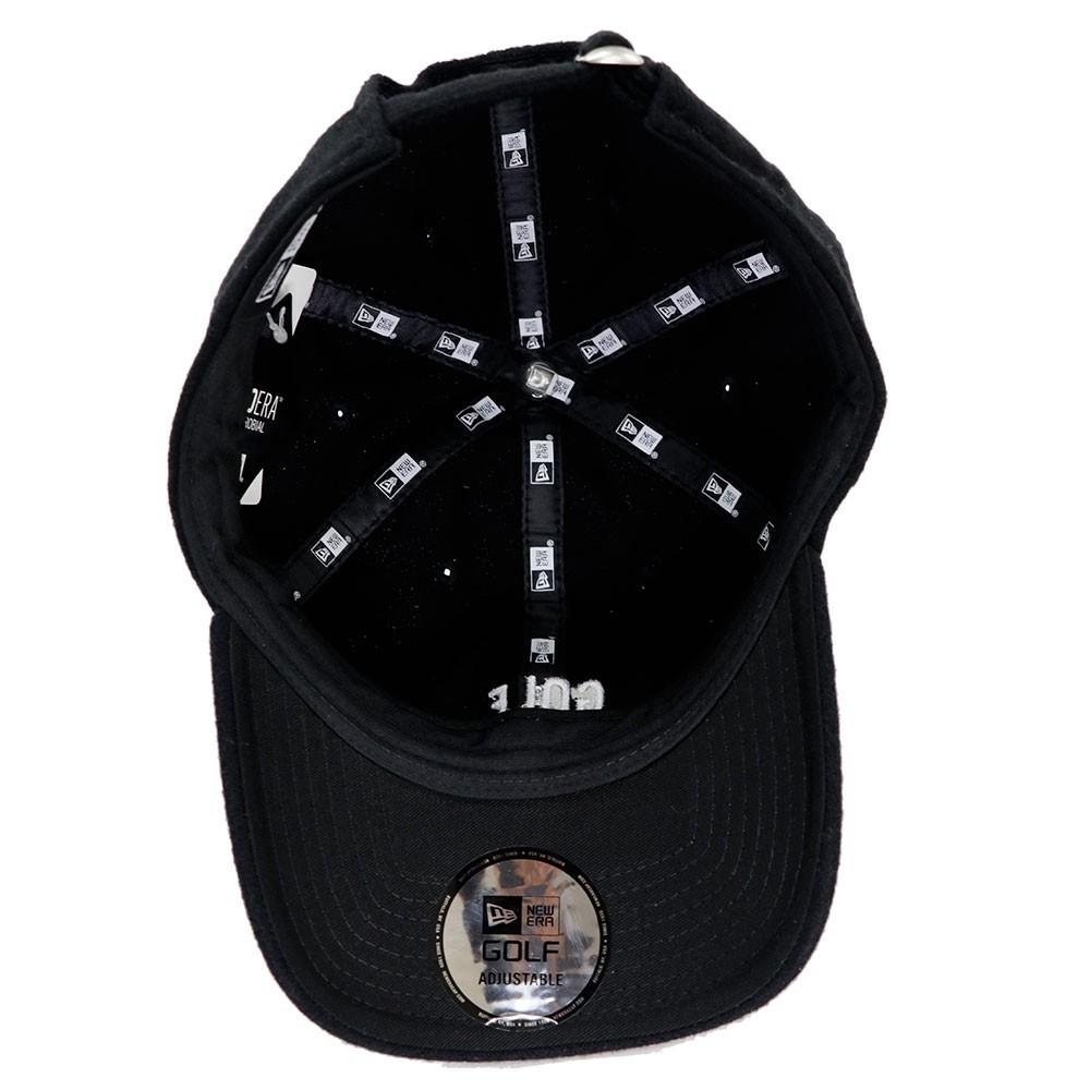 ニューエラ ゴルフ キャップ 9THIRTY クロスストラップ メルトン GOLFミニロゴ ブラック/ホワイト