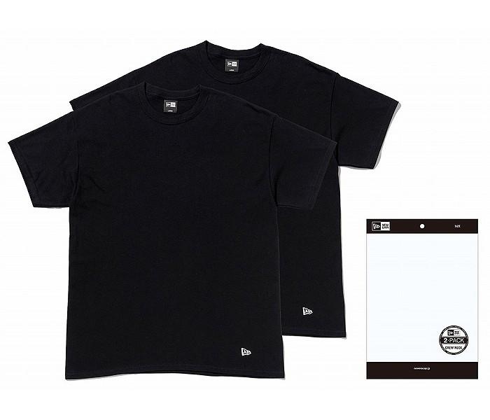 NEWERA(ニューエラ) 2枚入り 黒 無地 Tシャツ 【S〜XLサイズ】 2PACK Tee BLK 11229178