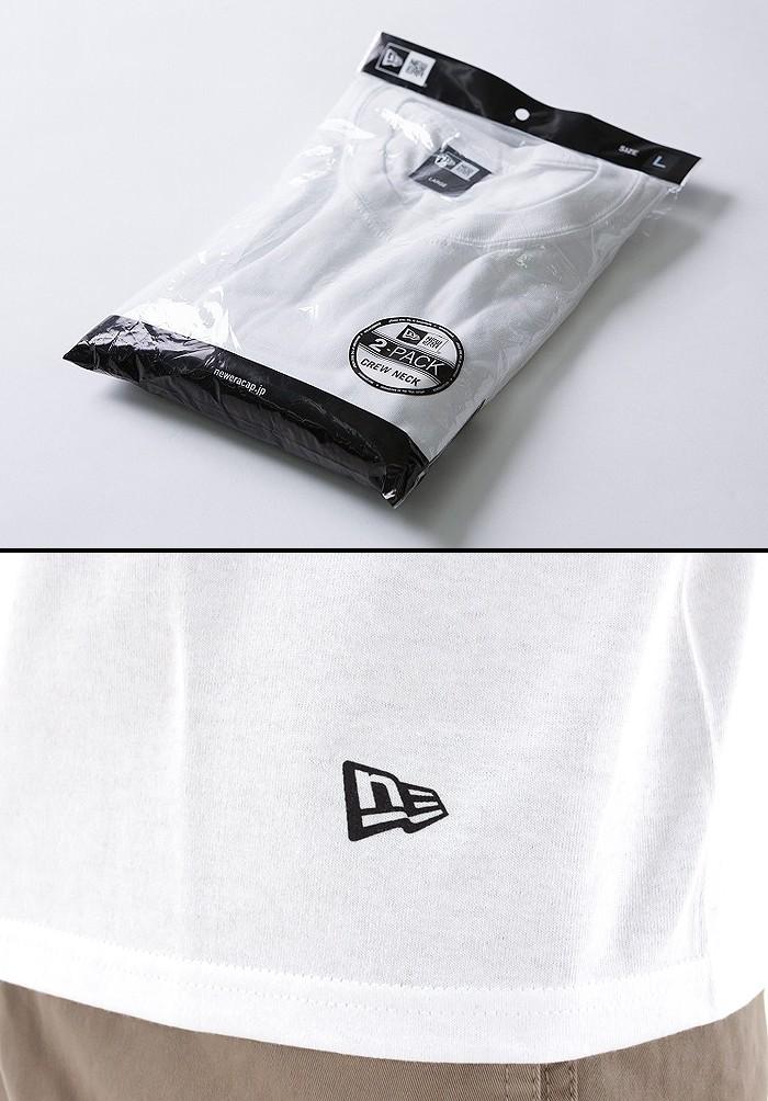 NEWERA(ニューエラ) 2枚入り 白 無地 Tシャツ 【S〜XLサイズ】 2PACK Tee WHT 11229177