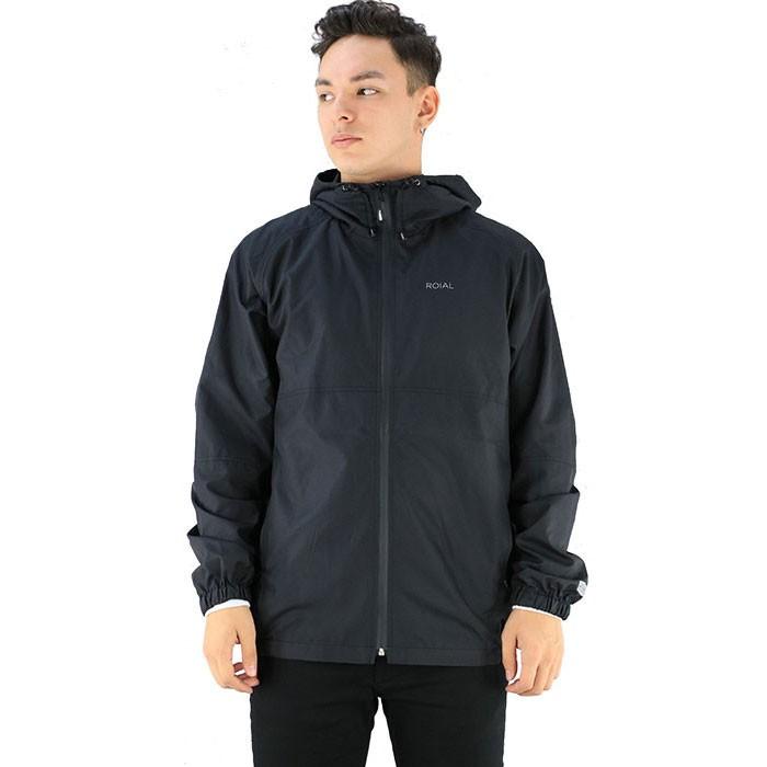 ROIAL SURF 撥水 防水 止水ファスナー メンズジャケット ウインドブレーカー ロイアル ブラック 黒