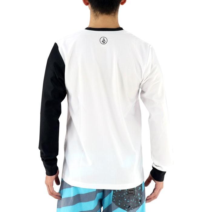 ボルコム 長袖ラッシュTシャツ ラッシュガード メンズ ロンT 白 VOLCOM N03117JA BRAND LOGO LS SURF TEE