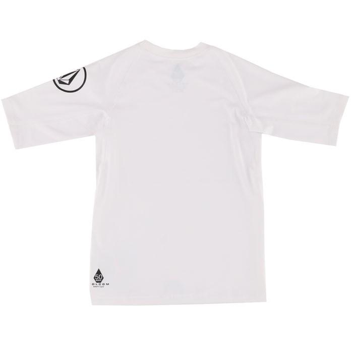 ボルコム キッズ 半袖ラッシュTシャツ ラッシュガード 紫外線対策 UVカット VOLCOM LIDO S/S Y9111700 白