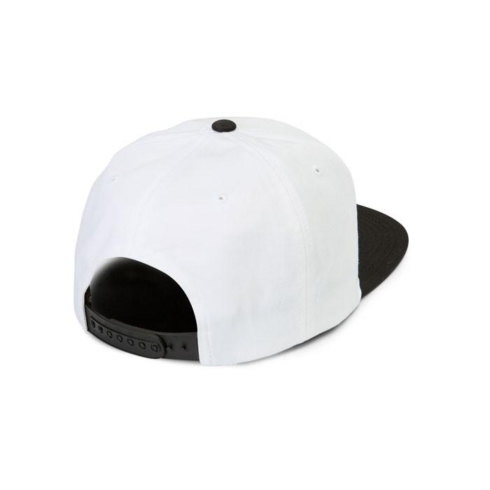 VOLCOM スナップバックキャップ ボルコム Cresticle Hat 6パネル 平つばCAP ホワイト 白 刺繍パッチ