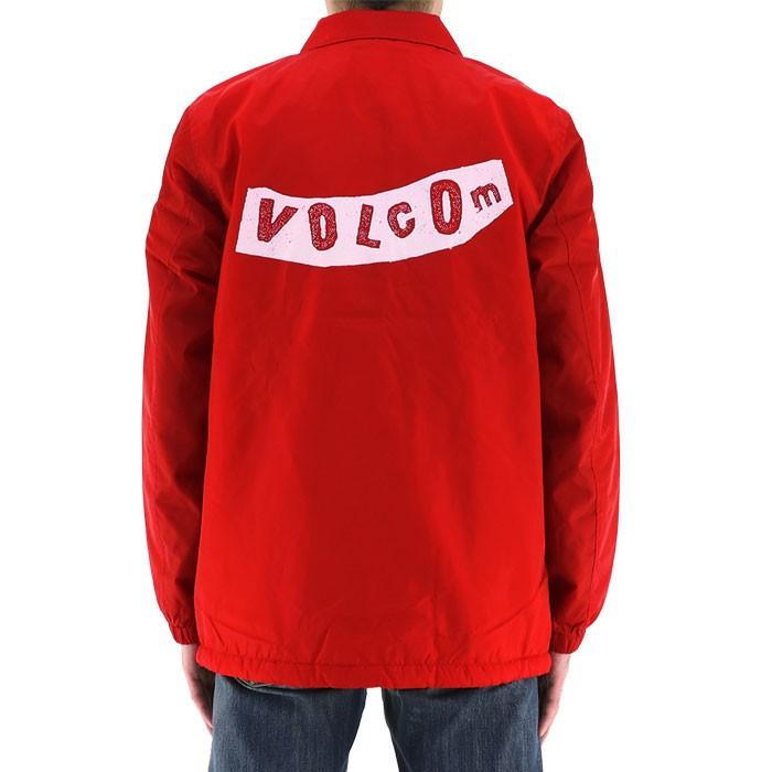 6a219eaaeccb ボルコム アウター カジュアル 赤 コーチジャケット レッド 裏ボア VOLCOM メンズジャケット