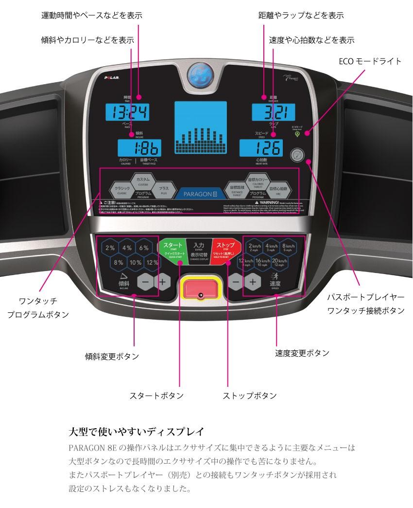 ルームランナー ランニングマシン クロストレーナー トレッドミル 電動ウォーカーとして大人気! ジョンソンヘルステック PARAGON8E パラゴン8E