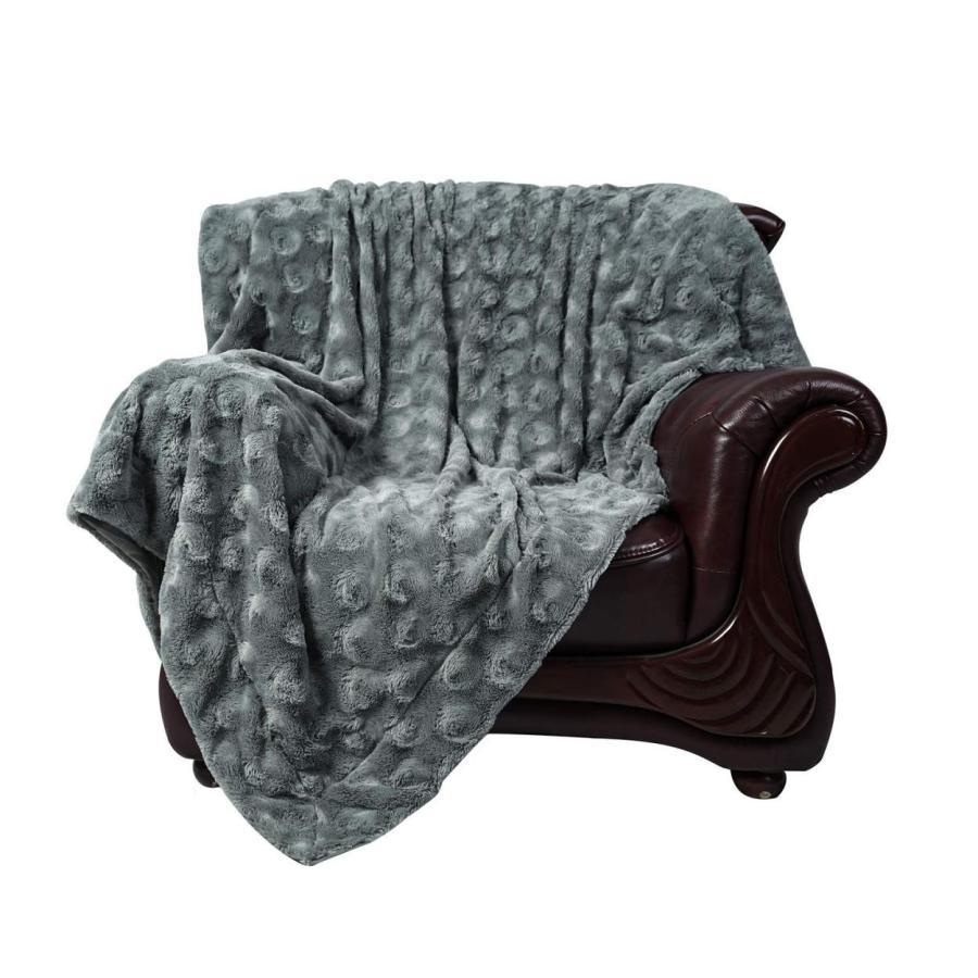 送料無料 毛布 ダブル フェイクファーブランケット エアコン対策 ひざ掛け ふわふわ 柔らかい 肌触りにやさしい マイクロファイバー 130cmx150cm グレー|urazaki2|21