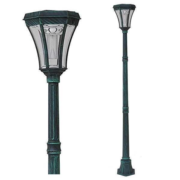 街灯 ソーラー式 アンティーク 外灯 LED ソーラーライト 屋外 おしゃれ 庭 おしゃれな街灯 レトロな街灯 ledソーラー ガーデンライト ポール 埋め込み|usagi-shop|16