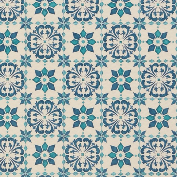 クッションフロアー モロッコタイル 青 ブルー おしゃれ 派手 目立つ モロカンタイル 長尺シート CFシート usagi-shop 08