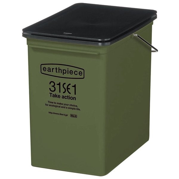 ゴミ箱 おしゃれ リビング キッチン 小型 フタつき 蓋 ふた スリム 小さい 小さめ 取っ手付き 17L ごみ箱 インテリア カフェ風|usagi-shop|09