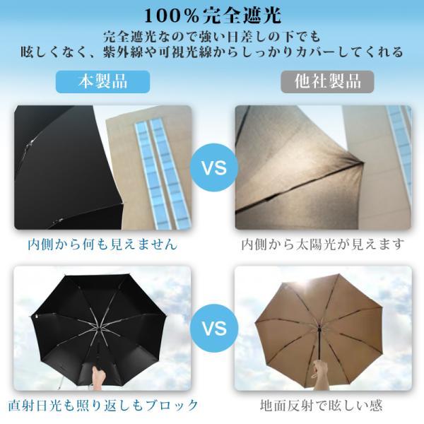 日傘 完全遮光 折りたたみ uvカット 傘 8本骨 レディース ワンタッチ 雨傘 晴雨兼用 遮光 折りたたみ傘 自動開閉 晴雨傘 折れにくい 濡れない 遮熱 耐風|usamdirect|11