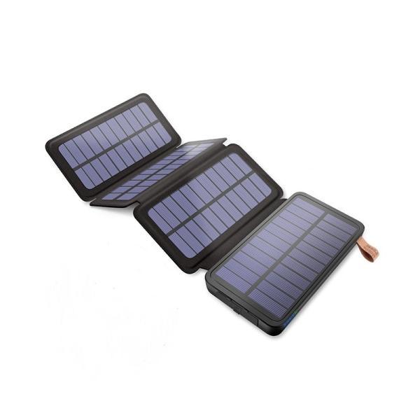 ソーラーモバイルバッテリー 20000mAh 大容量 モバイルバッテリー ワイヤレス充電 急速充電 ソーラー充電器 アウトドア 充電器 iPhone アンドロイド PSE認証済 usamdirect 13