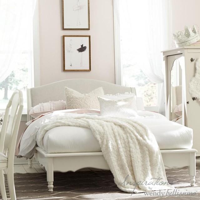 ベッド シャビーシック エレガント ホワイト家具 大人可愛い