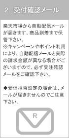 (2)受付確認メール