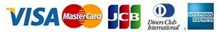 当店ではクレジットカードは、VISA、マスターカード、JCB、アメリカン・エキスプレス(アメックス)・ダイナース)がご利用いただけます。