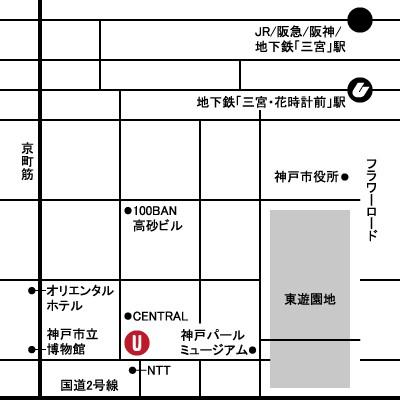 Utsubo Stock大阪靭公園店MAP