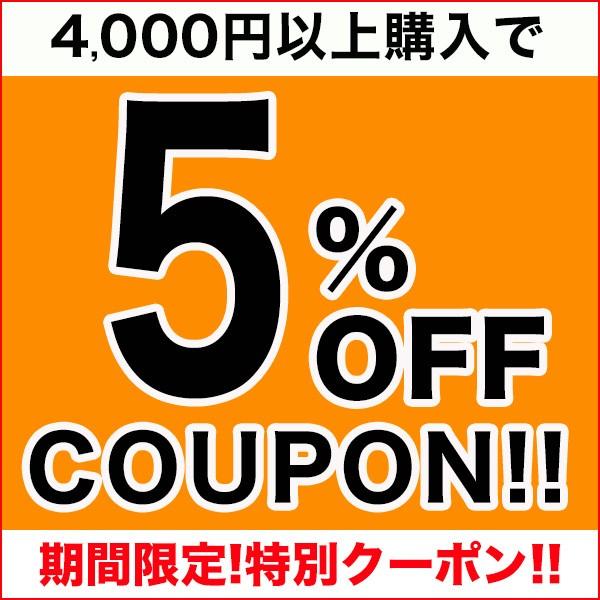 【特別限定クーポン!】4,000円以上購入で5%OFFクーポン★