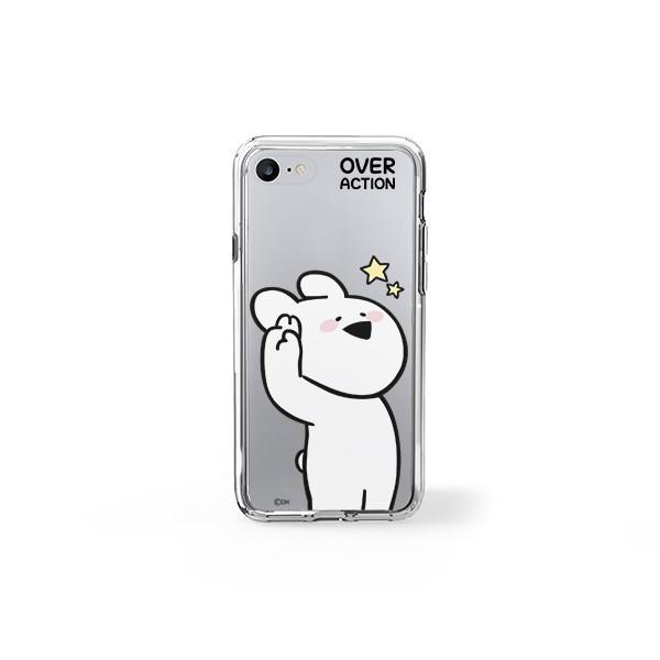 すこぶる動くウサギ 強化ガラスケース 正規品 iPhone SE 第2世代 11pro 11 7 8 X XS XR スマホケース Over Action Rabbit ネコポス|vaniastore|06
