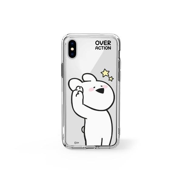 すこぶる動くウサギ 強化ガラスケース 正規品 iPhone SE 第2世代 11pro 11 7 8 X XS XR スマホケース Over Action Rabbit ネコポス|vaniastore|09