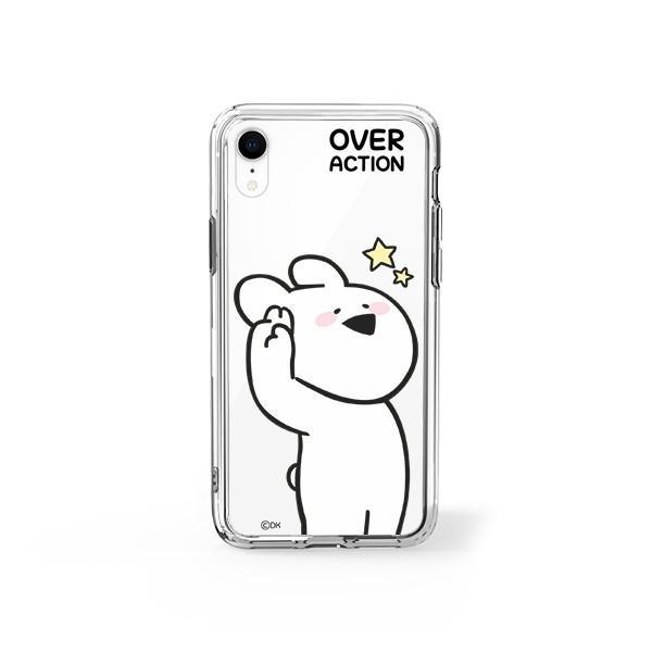 すこぶる動くウサギ 強化ガラスケース 正規品 iPhone SE 第2世代 11pro 11 7 8 X XS XR スマホケース Over Action Rabbit ネコポス|vaniastore|12