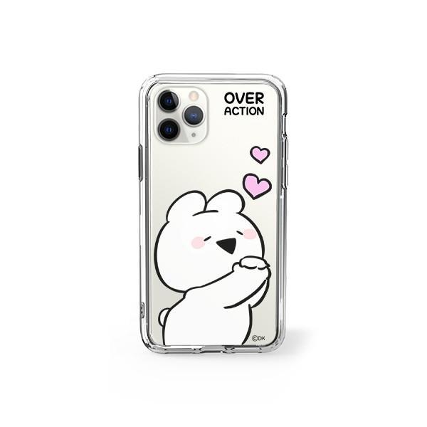 すこぶる動くウサギ 強化ガラスケース 正規品 iPhone SE 第2世代 11pro 11 7 8 X XS XR スマホケース Over Action Rabbit ネコポス|vaniastore|14