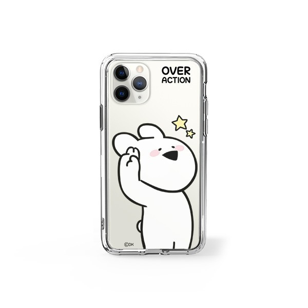 すこぶる動くウサギ 強化ガラスケース 正規品 iPhone SE 第2世代 11pro 11 7 8 X XS XR スマホケース Over Action Rabbit ネコポス|vaniastore|15