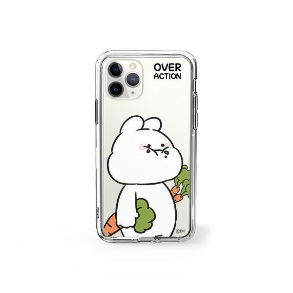 すこぶる動くウサギ 強化ガラスケース 正規品 iPhone SE 第2世代 11pro 11 7 8 X XS XR スマホケース Over Action Rabbit ネコポス|vaniastore|16