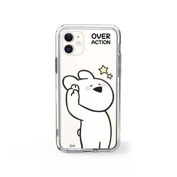 すこぶる動くウサギ 強化ガラスケース 正規品 iPhone SE 第2世代 11pro 11 7 8 X XS XR スマホケース Over Action Rabbit ネコポス|vaniastore|18