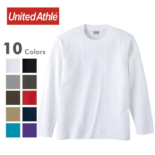 United Athle ユナイテッドアスレ 5010-01[r7w]5.6オンス ハイクオリティー Tシャツ 長袖 ロンT 無地 の画像1