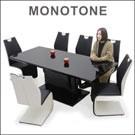 ダイニングテーブルセット 6人 7点 ガラステーブル モノトーン ブラック ホワイト 高級感 おしゃれ