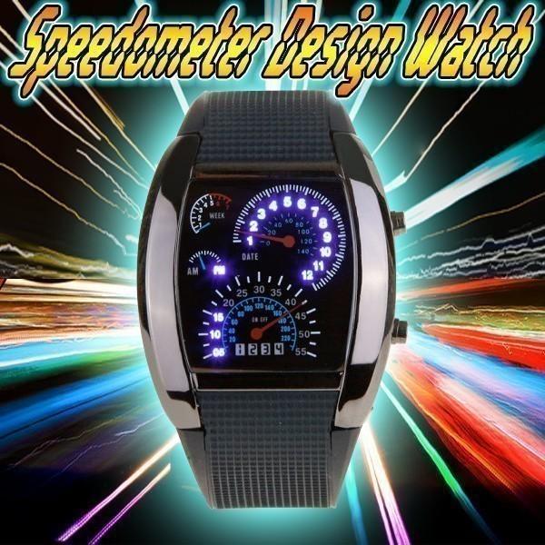 腕時計 メンズ LED デジタルウォッチ カレンダー 日付表示 LEDデジタル腕時計 スピードメーター 速度計モチーフ 時計 デジタル表示 タコメーター おしゃれ|versos|09