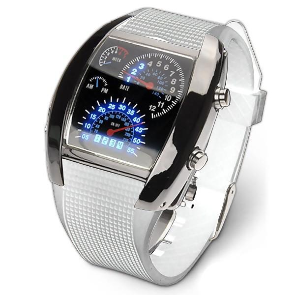 腕時計 メンズ LED デジタルウォッチ カレンダー 日付表示 LEDデジタル腕時計 スピードメーター 速度計モチーフ 時計 デジタル表示 タコメーター おしゃれ|versos|07