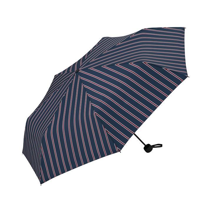 Wpc 折りたたみ傘 軽量 大きい58cm レディース メンズ 男女兼用傘 晴雨兼用傘 ボーダー ストライプ柄 BASIC FOLDING UMBRELLA Wpc ワールドパーティー MSM villagestore 07
