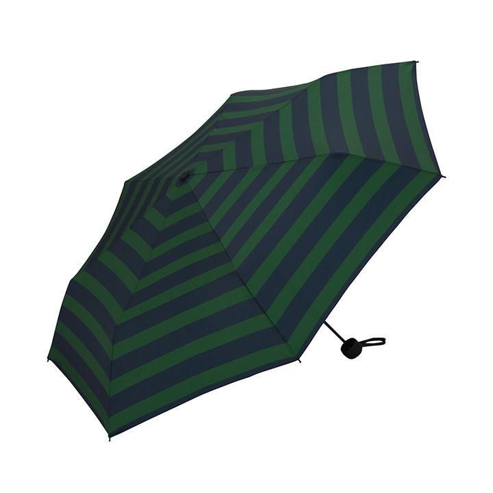 Wpc 折りたたみ傘 軽量 大きい58cm レディース メンズ 男女兼用傘 晴雨兼用傘 ボーダー ストライプ柄 BASIC FOLDING UMBRELLA Wpc ワールドパーティー MSM villagestore 08
