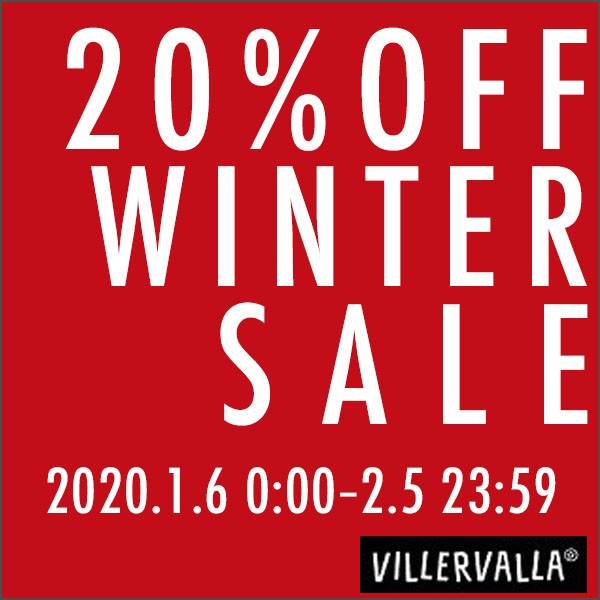 Villervalla WINTER SALE【20%OFFクーポン】