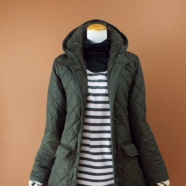 コート 冬 キルティング 中綿 ロングコート 130k visage-souriant1208 12