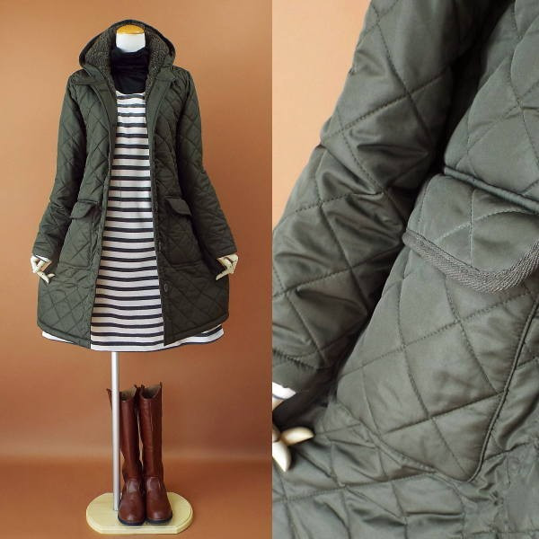 コート 冬 キルティング 中綿 ロングコート 130k visage-souriant1208 11