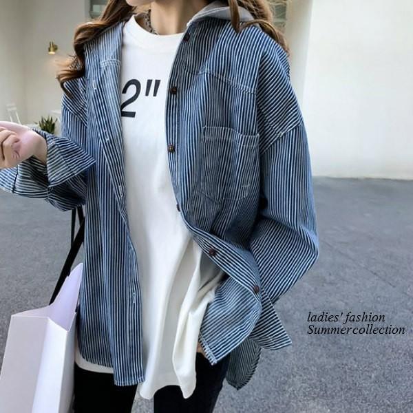 シャツ レディース おしゃれ 大人 夏 羽織り パーカー 40代 50代 s1263|visage-souriant1208|14
