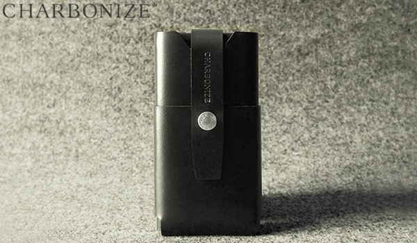 Charbonize レザー ウォレットタイプケース for iPhone 6 Plus(ブラック)